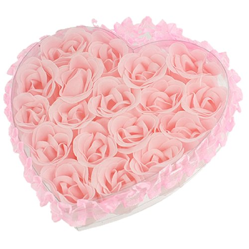 2015 Gift 18 in 1 Bath Body Flower Heart Favor Soap Rose Petal Wedding Decoration Party(China (Mainland))