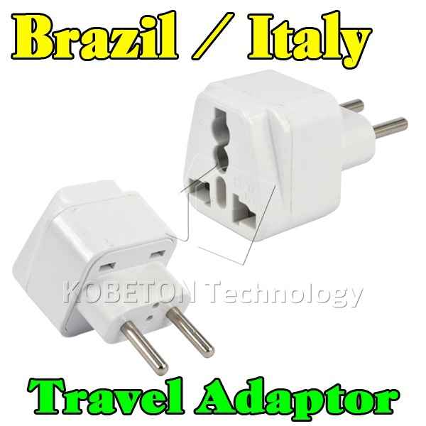 2015 New Portable Wall Charger EU AU US UK to Brazil Italy Universal 2 Pin Home Household Travel Adapter AC Power Plug Converter(China (Mainland))