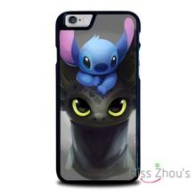 For iphone 4/4s 5/5s 5c SE 6/6s plus ipod touch 4/5/6 back skins mobile cellphone cases cover TOOTHLESS AND STITCH