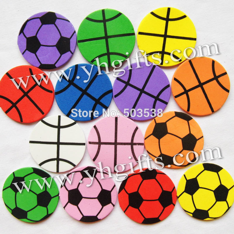 200PCS(6bags)/LOT,4.5cm mixed sports ball foam stickers,Kids toy.Scrapbooking kit.Early educational DIY.Cheap.kindergarten craft(China (Mainland))
