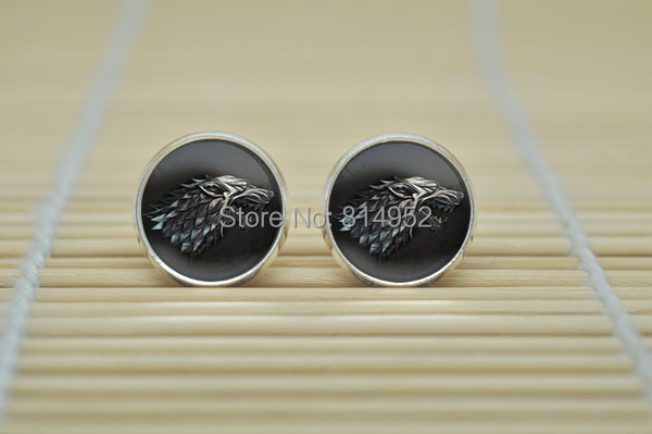 10pair Game of Thrones Earrings House Star Earrings jewelry glass Cabochon Earrings B4064(China (Mainland))