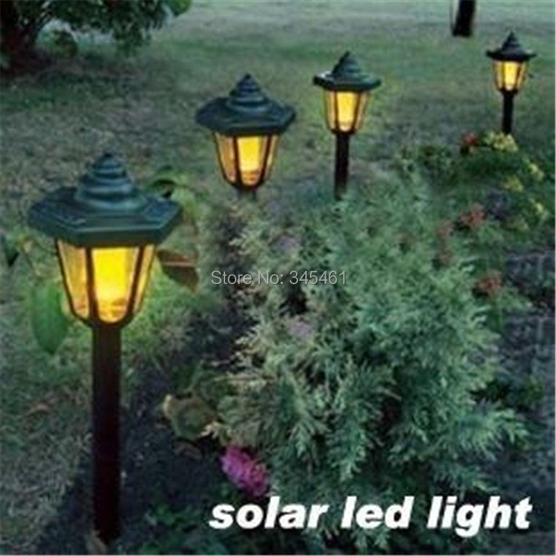 4pcs/lot- European Hexagon Solar Led Light Solar Garden Light Villa/Lawn Light Outdoor Grounding light For Yard(China (Mainland))