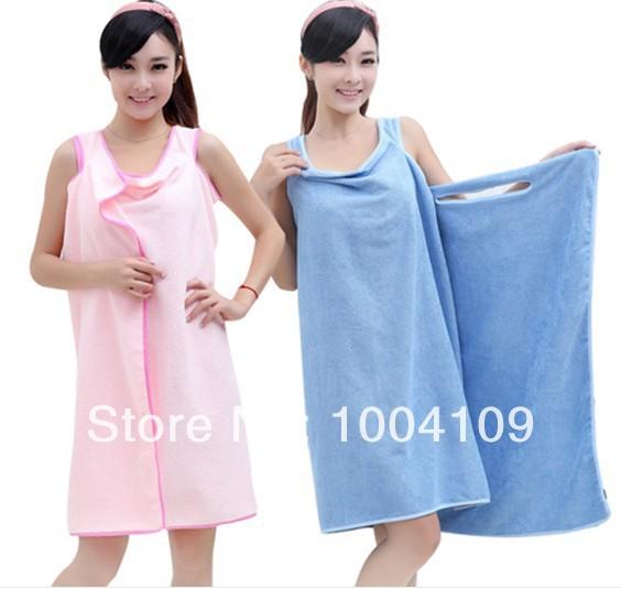 Microfiber fabric magic bath towel quick dry high absorbent sexy adult bath bathrobe skirt birthday valentine mother's day gifts(China (Mainland))