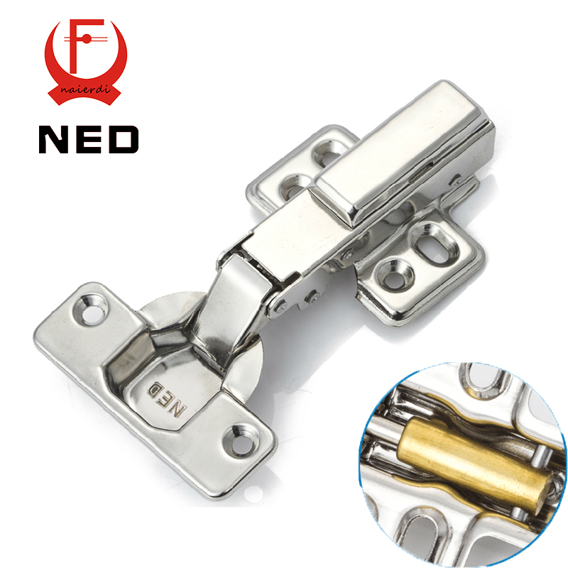 NED Full Size 304 Stainless Steel Hydraulic Hinge Pure Copper Damper Buffer Cabinet Cupboard Door Hinges Furniture Hardware(China (Mainland))