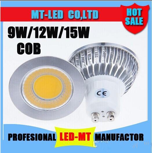 led light 9W 12W 15W COB GU10 E27 E14 LED Dimming N Sport light lamp High Power bulb120 degrees MR16 12V E27 GU10 AC 110V 220V(China (Mainland))