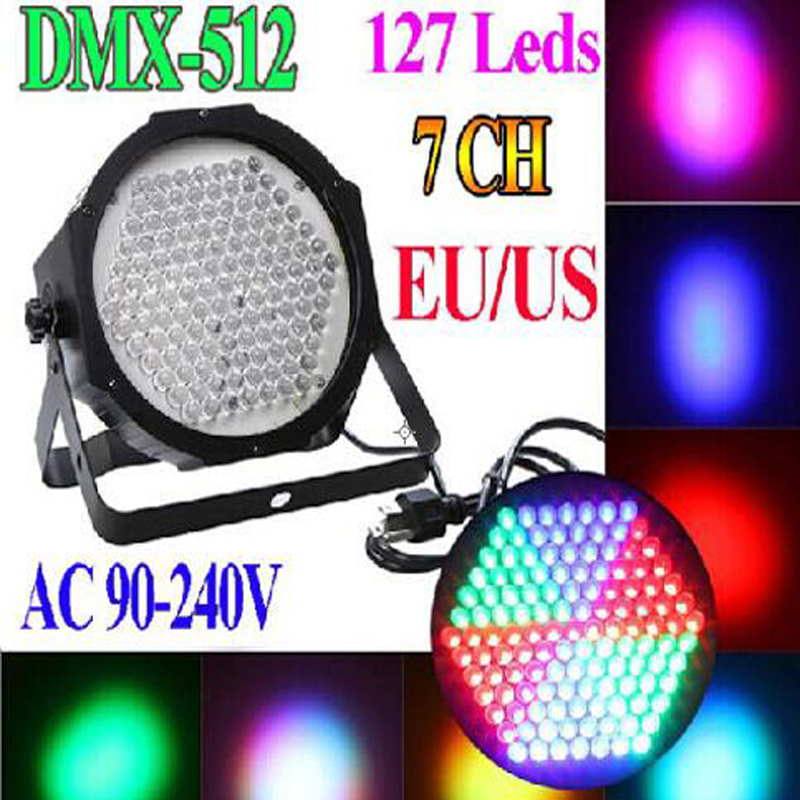 HOT BIg stage light 127LED High Power RGB Par Light With DMX512 Master Slave Led Flat DJ Equipments Controller,Free shipping<br><br>Aliexpress