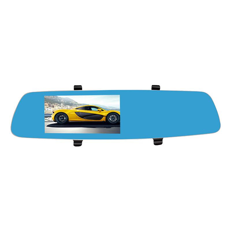 5inch IPS Touch Car dual Camera Novatek 96655 Car Dvr Blue Review Rear Mirror Digital Video Recorder Auto Navigator(China (Mainland))