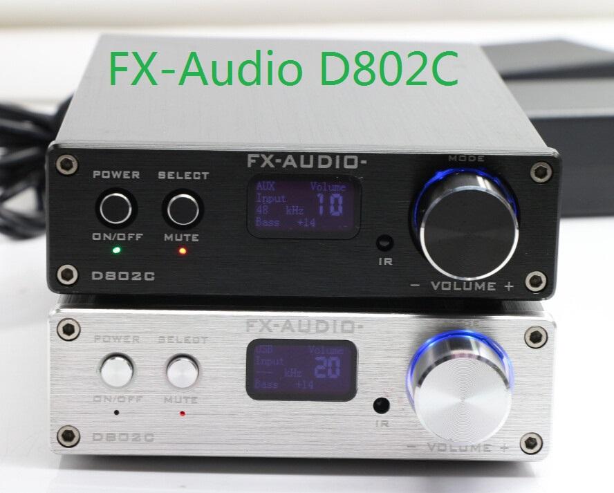 FX-Audio D802C Bluetooth@3.0 Full Digital Amplifier Input USB/AUX/Optical/Coaxial/BT 24Bit/192KHz 80W*2 DC32V/5A Power Supply(China (Mainland))
