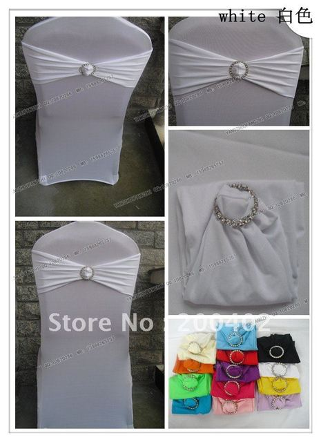 free shipping white spandex band with rhinestone  for chair covers/spandex band