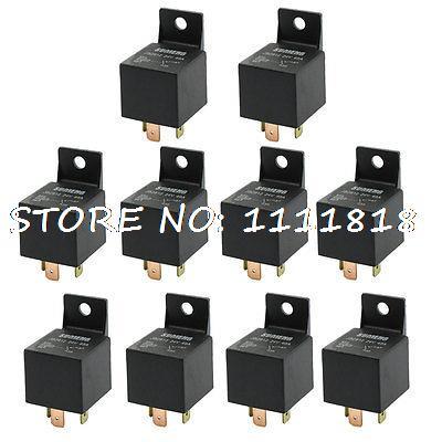 DC 24V 40A Insulating Housing 1NC SPST 4-Pin Male Plug Car Relay 10 Pcs<br><br>Aliexpress