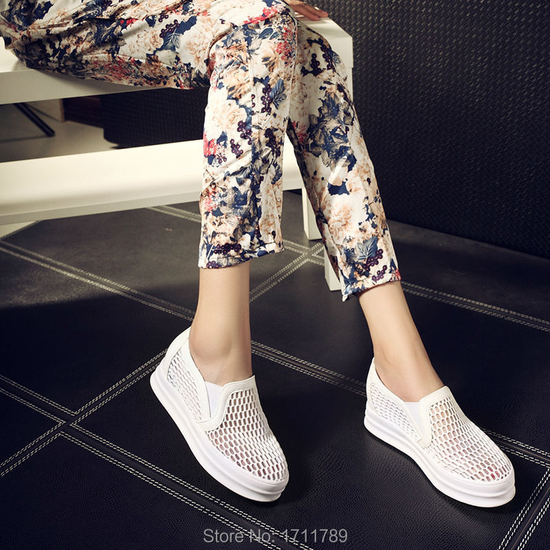 2015 New fashion women sneakers mesh breathable shoes flats summer white shoes EUR size 35-39 0111<br><br>Aliexpress