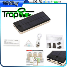 Tropweiling Solar powerbank 1.5W-10000mah solar charger portable charger power bank solar for all phones battery bank