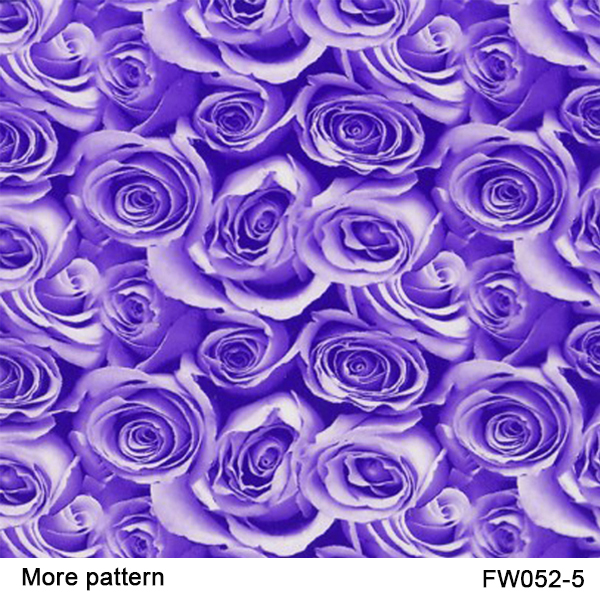 Free shiipping!! FW052-5 Decorative Material 5square Width 0.5m Purple rose flower patterns water transfer printing film(China (Mainland))