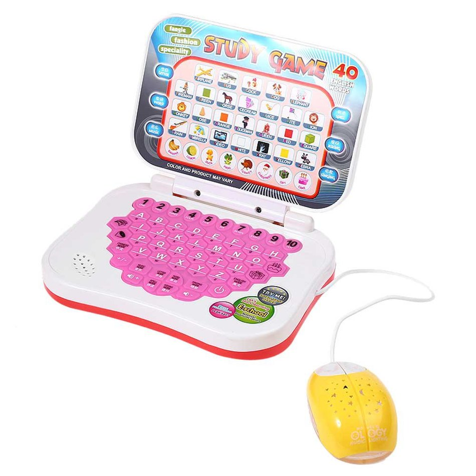 Mini E-school PC Learning Machine Computer Laptop Baby Children Educational Game Toy Electronic Notebook Kids Study Music Phone(China (Mainland))