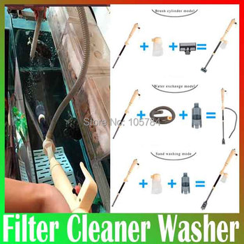 Automatic fish Aquarium Cleaner Washer Battery Syphon,Auto Vacuum Fish Tank Gravel Water Filter Washer pumping water pump Free