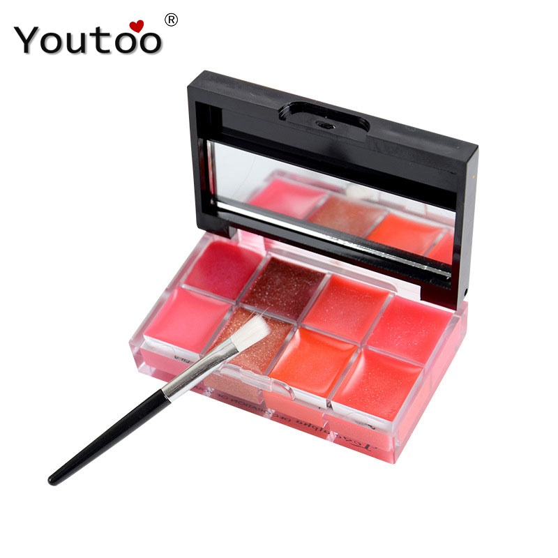 LOVE ALPHA 8 Color Lip Gloss Transparent Nude Colors Moisturizing Nutritious Liquid Matte Lipstick Long Lasting Makeup Cosmetics(China (Mainland))