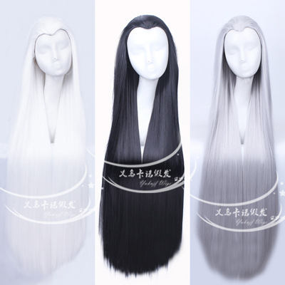 100 Cm Harajuku Anime Hua Qiangu Cosplay Wigs Young Long Straight Synthetic Hair Wig Bangs black Costume Party Wigs For Women<br><br>Aliexpress