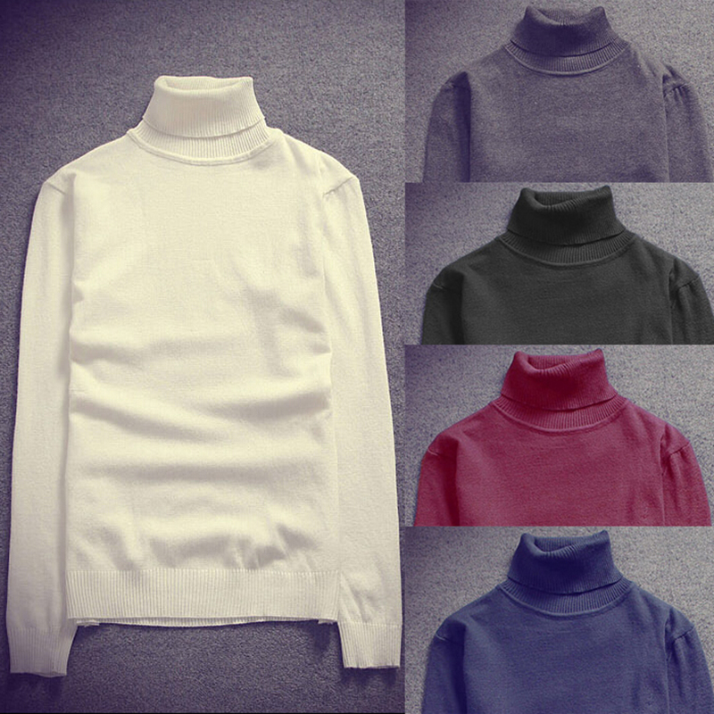 Navy Blue Wine Red Spring Sweater Knitted Pullover White Black Jumper Men Turtleneck Sweater Thin Stretch Slim Fit Design(China (Mainland))