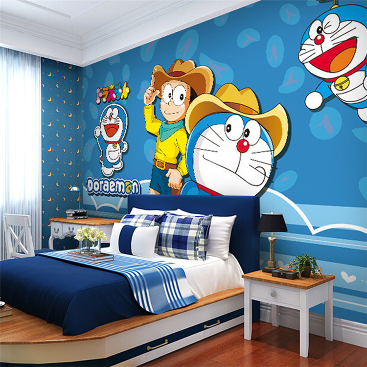 Japanese anime wallpaper doraemon wall mural cartoon photo for Art room mural ideas