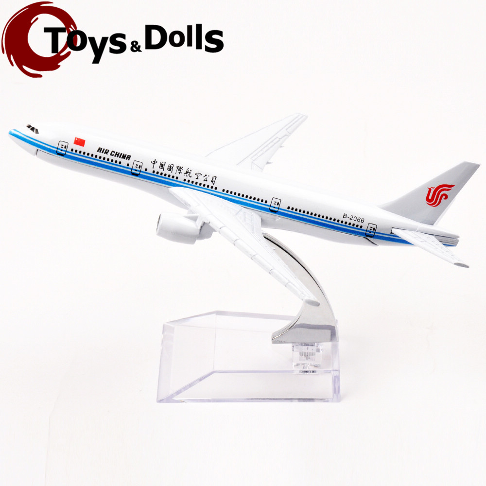 16cm Alloy Diecast Airplane Model Passenger Plane Model Boeing B-777 Air China Souvenir Collectible Airplane Model Kids Toy Gift(China (Mainland))