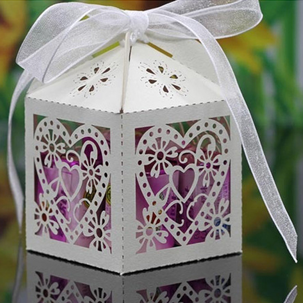 100 pcs Cheap Sale Red/ White/ Gold/ Navy Blue Laser Cut Wedding Favor Boxes Candy Box Casamento Wedding Favors And Gifts(China (Mainland))
