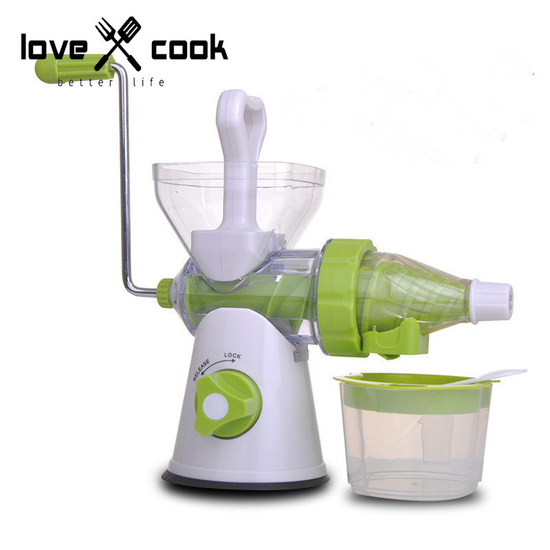 Multifunctional Manual Juicer Meat Grinder Ice cream High Rotation Speed Food Grade Practical Detachable Kitchen Supplies(China (Mainland))