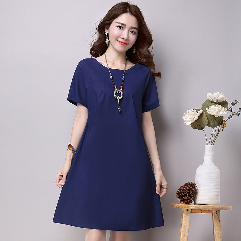 Buy Anysize Soft Linen&Cotton A-line Dress Plus Size Dress Spring Summer Dress Y90 and other Casual at bestkapper.tk Our wide selection is elegible for free shipping and free returns.4/5(6).