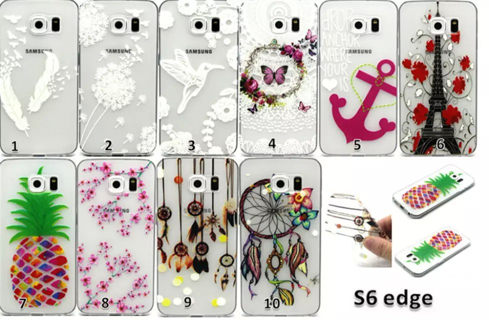 Ultra Slim Gel TPU Rubber Embossed 3D Silicone Back Cover Soft Transparent Frame font b Phone