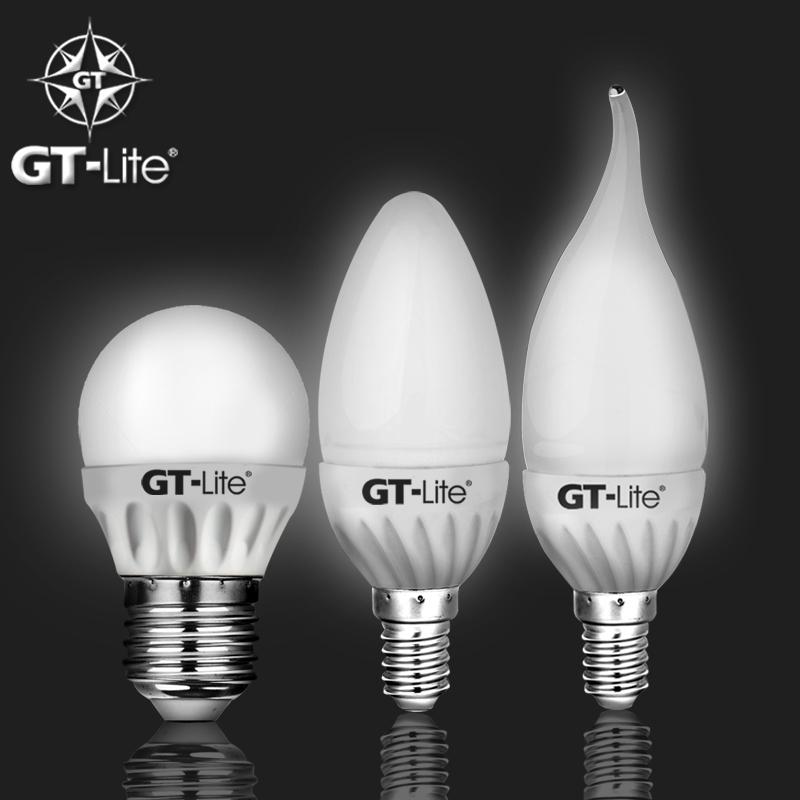GT-Lite LED Candle Bulb 220V E27 E14 4W G45 C37 F37 Energy Saving High Transmittance Glass Shade Ceramic Spheres LED Lamp Light(China (Mainland))