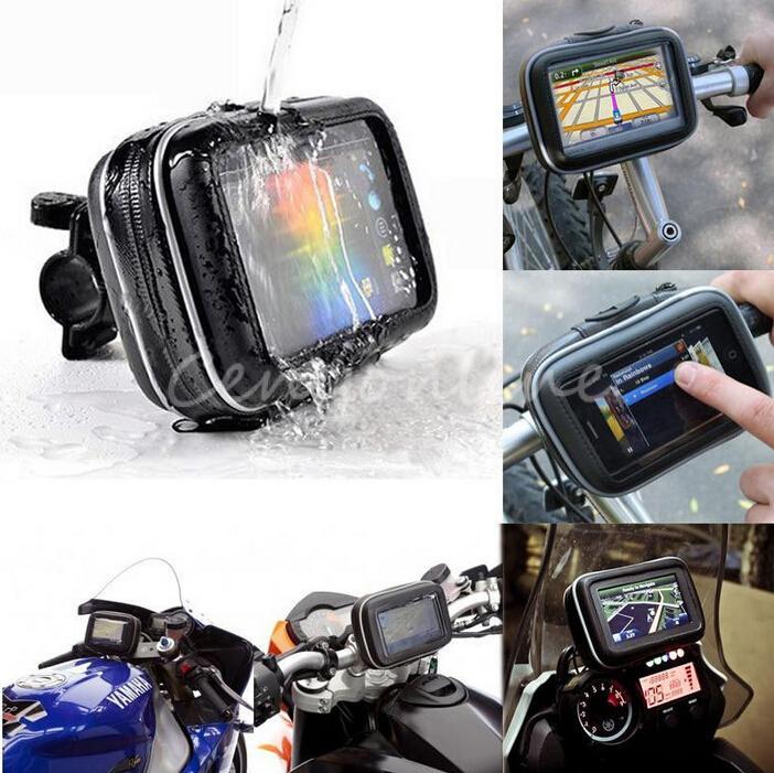 Best Price High Quality Bicycle Motor Bike Motorcycle Handle Bar Holder Waterproof Case Bag 4.3 For Garmin Magellan GPS Phone<br><br>Aliexpress
