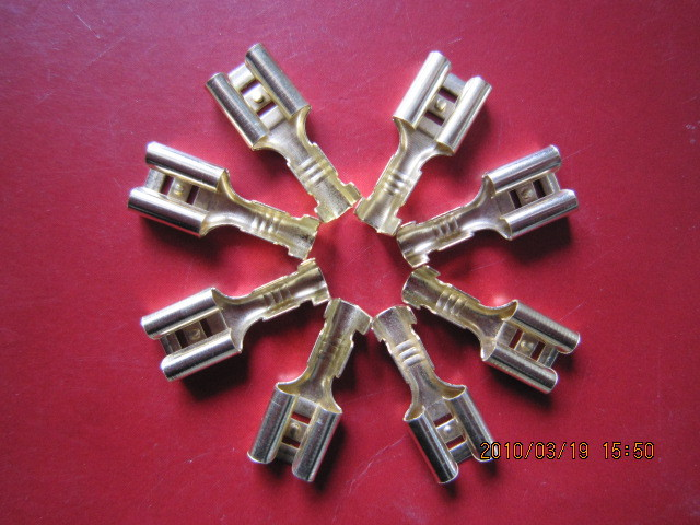 100Pcs DJ622-D6.3 Automobile Connector Dimension 6.3 Female Naked Terminal Cold Terminals(China (Mainland))
