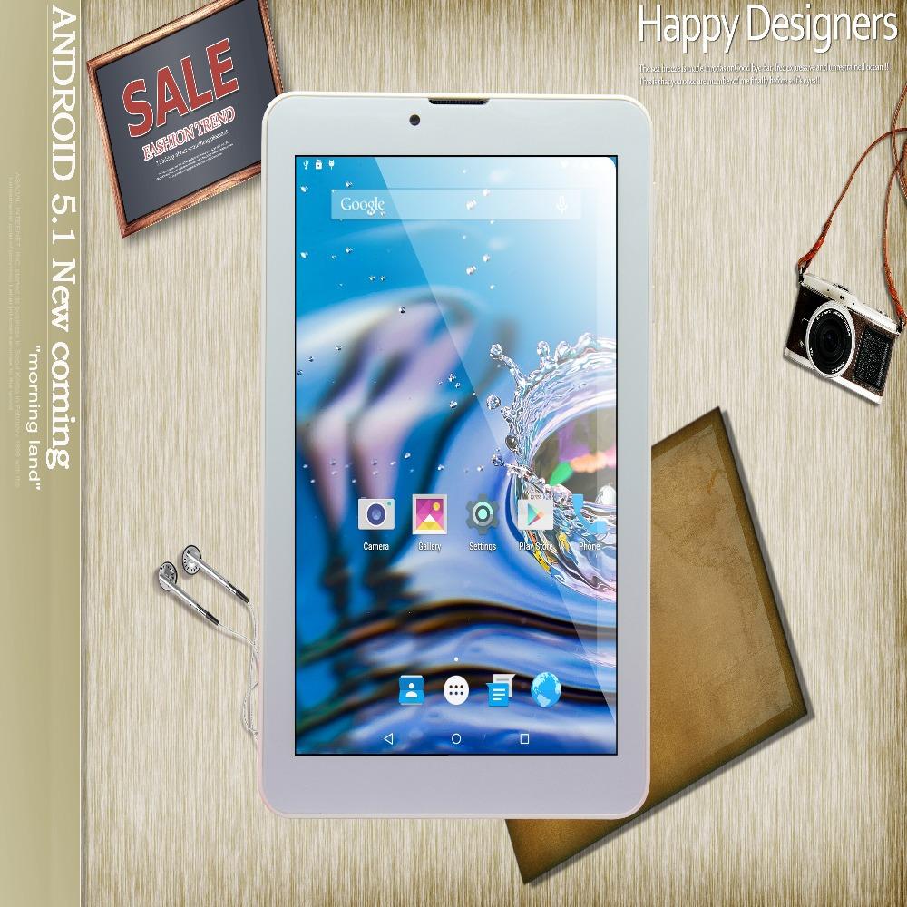 7 polegada Android5.1 Tablet Pc 2 GB 16 GB couleur argent double carte SIM 2 G 3 G 4 G réseau Pad 4 G IPS LCD appel téléphonique comprimés Mini Pad(China (Mainland))
