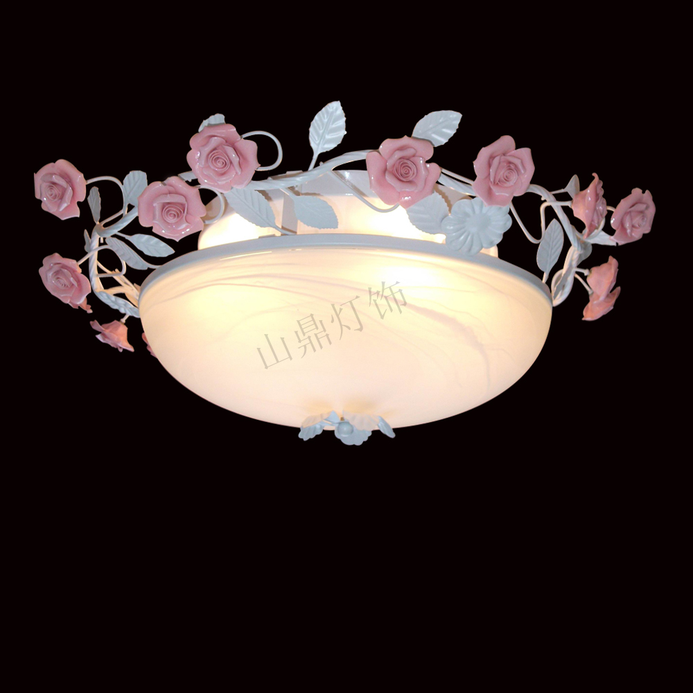 Rustic ceiling light flowers and lights living room lights bedroom lamp restaurant lamp fashion ceiling light fitting lamp(China (Mainland))