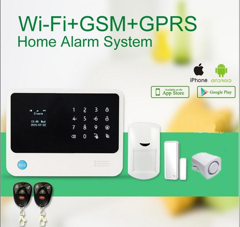 WIFI Alarm System Support IP Camera GSM Alarm System Home Security Alarm System with mini siren(China (Mainland))