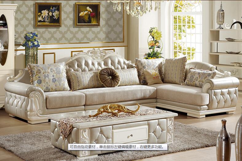 U BEST European Style Sofa New Classic Leather Sofa The