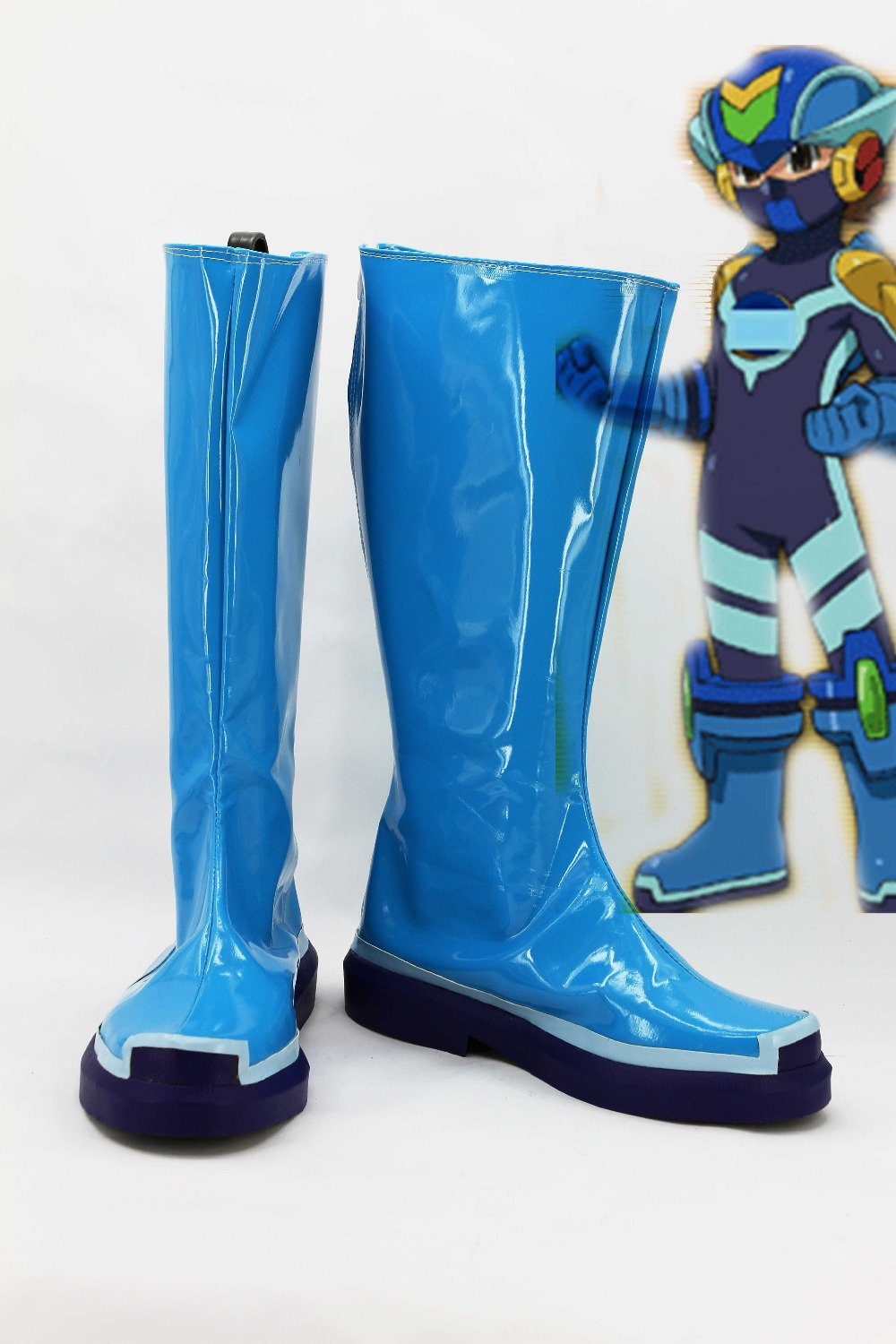 Фотография New male female costumes customize Rockman Mega Man Steve COSPLAY customized Rockman shoes boots costumes
