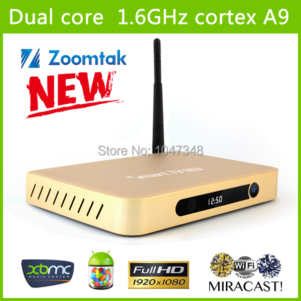 Best New Private Aluminum Housing 1080P Android tv box DVB T2 Android 4.2 Dual Core TV Box 1G DDR3 8GB Flash(China (Mainland))