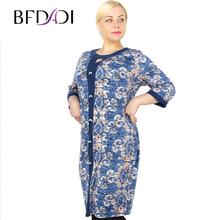 BFDADI 2016 Женщины Осень и зима Прямые Платья Ретро-модель декоративными пуговицами Случайные Dress Большой размер 7-3698(China (Mainland))