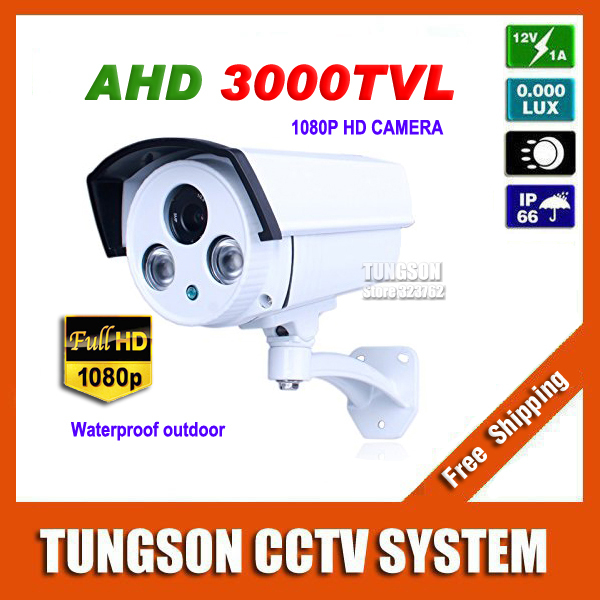 New Product HD 1080P Outdoor Surveillance 2led Array infrared Security AHD Technology 2MP CCTV Camera With Bracket Free shipping(China (Mainland))