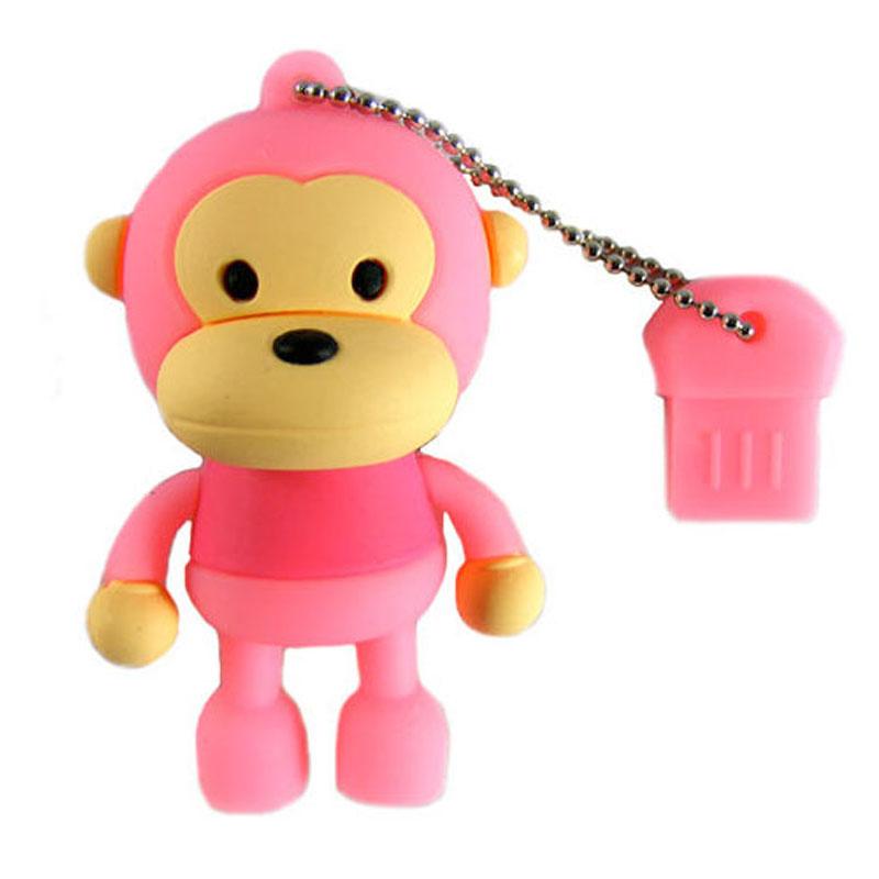 Lovely Monkey Rubber USB Flash Drives High Speed USB 2.0 External Pen drive 64GB 32GB 16GB 8GB Memory stick Creative pendrive(China (Mainland))