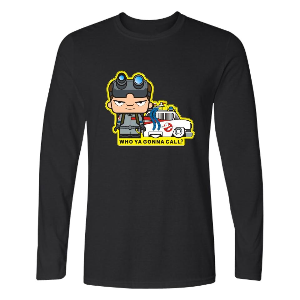 New Arrival Ghostbusters Movie White T-shirt Men Autumn Funny T Shirts For Men Cartoon Black Tee Shirt Men Long Sleeves XXS-4XL(China (Mainland))