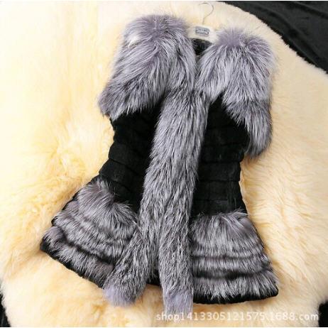 Colete De Pele Feminina 2015 New Fashion Faux Fur Coat Winter Women Fox Fur Vest Plus Size S-XXXL Short Fake Fur Waistcoat(China (Mainland))