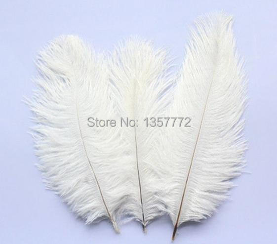 """Factory wholesale 50pcs natural White ostrich feather 15-20CM / 6 """"-8"""" Wedding Birthday Christmas decorations(China (Mainland))"""