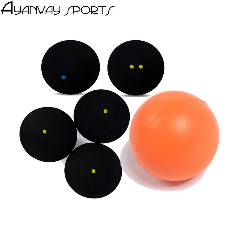 One Blue Dot Squash Ball Fast Single Yellow Dot Ball Slow Two-Yellow Dots Low Speed Elastic Rubber Training Ball Match Standard(China (Mainland))