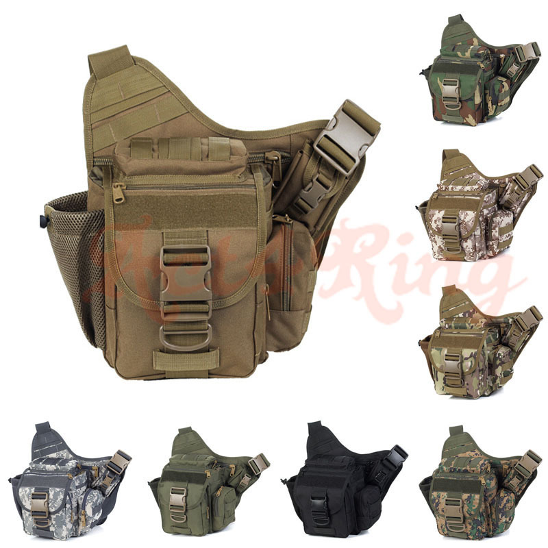 Tactical Messenger Bag Military Molle Camera Bag Outdoor Casual Waist Pack Army Fans Durable Single Shoulder Bag(China (Mainland))