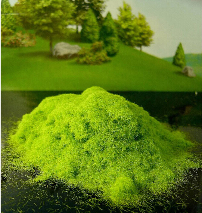 100G lightgreen Outdoor landscape construction sand table model material lawn turf grass powder viscose(China (Mainland))