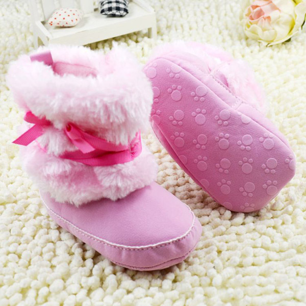 Гаджет  Princess Baby Girls Bowknot Snow Warm Boots Soft Crib Shoes Toddler Fleece Boots Free shipping & Drop shipping None Детские товары