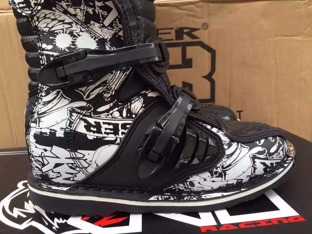 Men size 6-13 Waterproof  SN202 microfiber leather stivali moto enduro MId-calf  botas moto Ktm Motorcycle boots Shoes