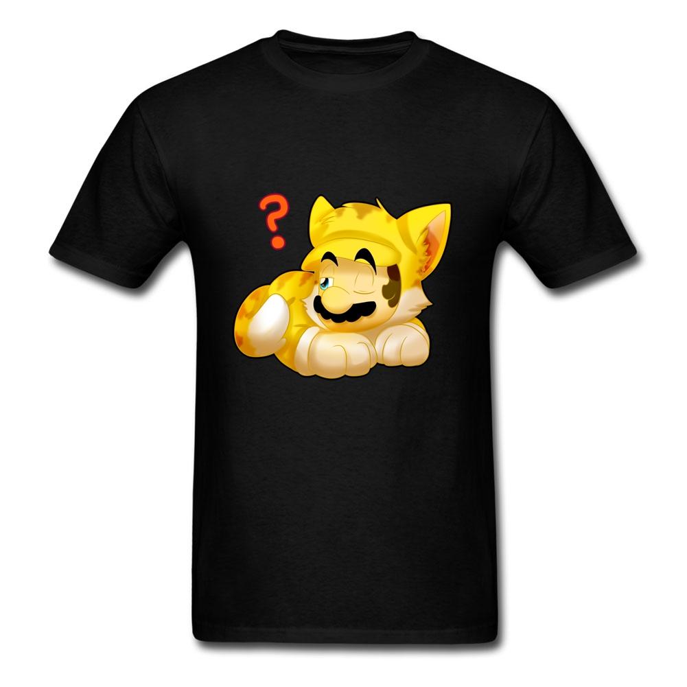 Funny Words Man's Tee Shirts kitty mario cool garment Top(China (Mainland))