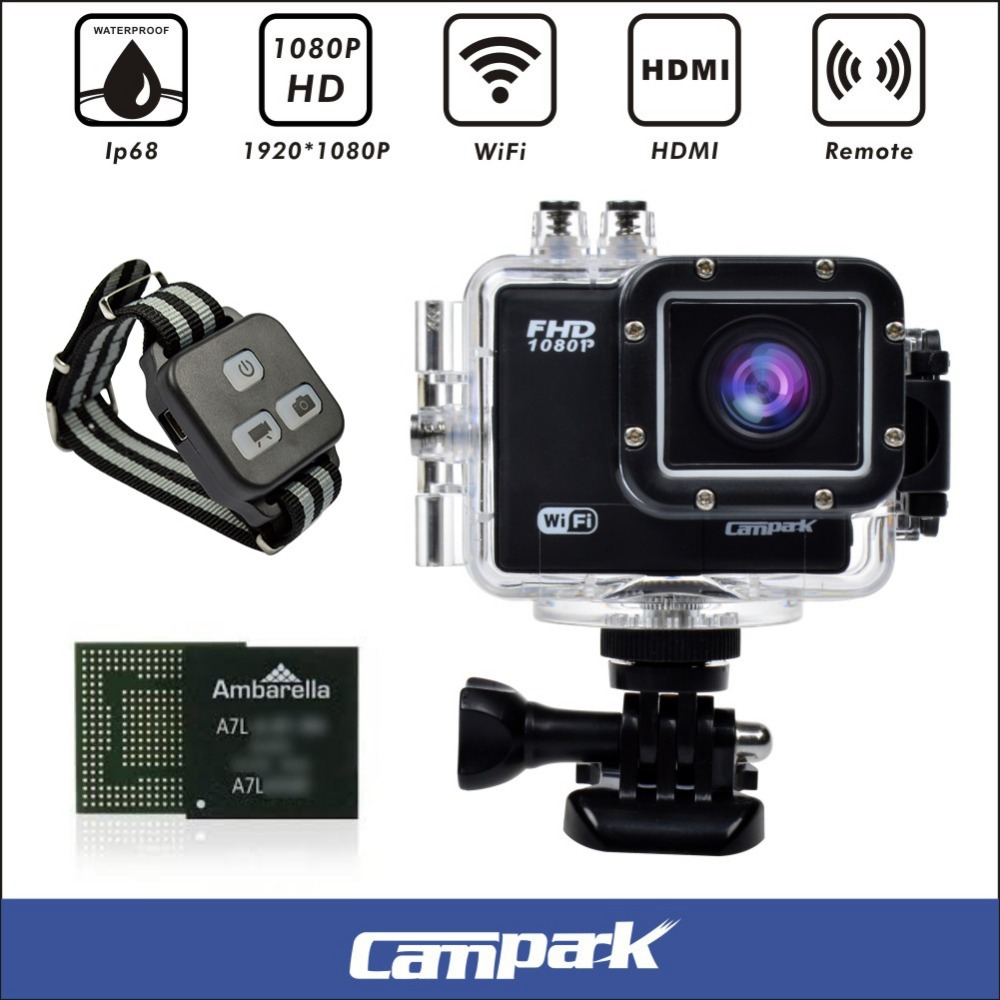 Wireless Sport Action Camera Full HD 1080P 16MP Sport Waterproof Camcprder with App 2.0